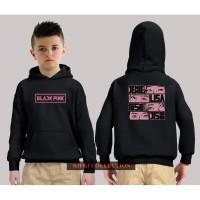 hoodie sweater anak black pink - high quality 05