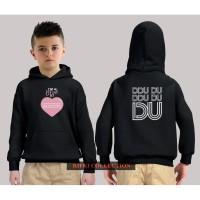 hoodie sweater anak black pink dududu - high quality 03