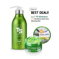 Premium TS Shampoo untuk Rambut Rontok - FREE Jeju Aloe Vera