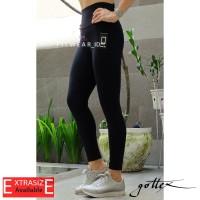 Legging olahraga wanita (Fitness, Yoga, Zumba)Gottex Pocket [Black]