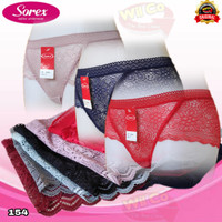 K154 | CD WANITA SOREX BRUKAT TRANSPARAN | CELANA DALAM WANITA SOREX - All Size, Random