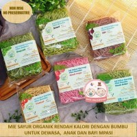 Mie Sehat -Lingkar Organik - Diet -MPASI buah naga/tomat/bit/bayam