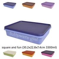 Kotak Besar Penyimpanan Kulkas - Wadah Besar Tempat Kue - Square Fun