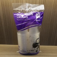 Gelas Plastik 220 Ml Isi 50Pcs Merk Wayang Tahan Panas&Dingin Higienis