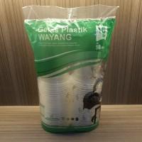 Gelas Plastik 16Oz Isi 50 Pcs Merk Wayang Tahan Panas&Dingin Higienis