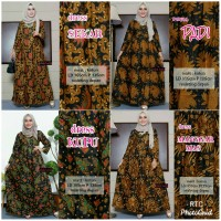 Dress Syar'i Gamis motif batik jawa tengah batik original