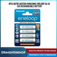4Pcs Rechargeable Battery Batre Baterai Panasonic eneloop AA A2 Cas