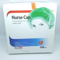 Onemed Nurse cap/Hair net/Bouffant/Tutup Kelapa Non Woven