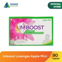 Imboost Lozenges Pelega Tenggorokan - Apple Mint - 15 Sachet @6Tablet