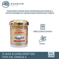 K-max Alaska Deep Sea Fish Liver Oil Omega 3,6,9 (Isi 100)