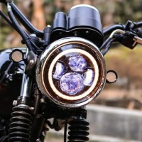 Headlamp LED Daymaker Halo Ring 7 Inchi