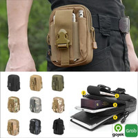 Tas pinggang HP pria Tactical Army Militer Molle pouch bag Outdoor