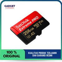 Sandisk Micro SD Extreme Pro 256 GB Upto 170 mbps - Garansi RESMI