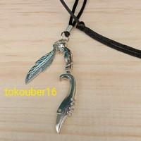 kalung kujang dan daun 123 / kalung cowo / kalung pria / kalung tali /