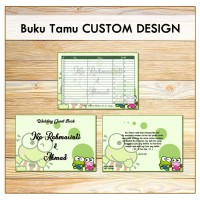 Buku Tamu Pernikahan Custom Design - Wedding Guest Book