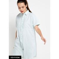 Dress Wanita EDITION Pin Tripe Eb42 - GREEN