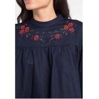 EDITION Off Embroidery Blouse Eb85 - NAVY