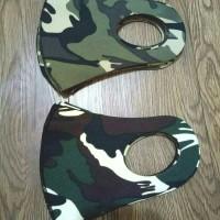 Masker Scuba Army / Loreng coklat (atas) dan Hijau(Bawah)