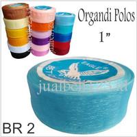 Pita Organdi Polos 1 inch atau 2.5cm