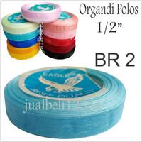 Pita Organdi Polos 0.5inch atau 1.25cm