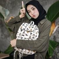 RANSEL SERUT SEGITIGA // taskanvasbdg - tas kanvas ransel wanita