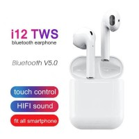 Airpods i12 TWS Headset Bluetooth V5.0 Earphone Wireless TouchID Sport