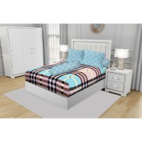SPREI KING CALIFORNIA FITTED 180X200 PINK BERRY