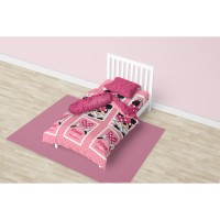BED COVER SINGLE CALIFORNIA FULL FITTED 120X200 PINK MINIE