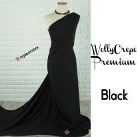 HijabersTex 1/2 Meter Kain WOLLYCREPE PREMIUM Black