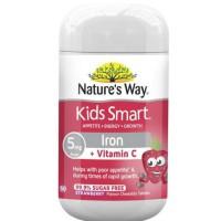 nature's way kids kid smart vitamin c vit c + iron 50 caps