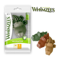Whimzees Dental Chew Dog Treats Alligator M - Pet Snack Anjing Hewan