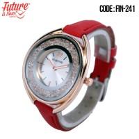 FIN-241 Jam tangan fashion wanita analog - leather strap - 9 pilihan