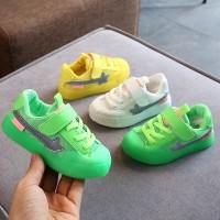 Flat Sneaker Korean Fashion Kids Boys Girls Jelly color Sports Shoes