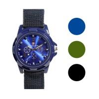 FIN-225 Jam tangan fashion pria analog - canvas strap - 3 pilihan