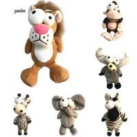 Mainan Boneka Stuffed Binatang Kartun Singa / Gajah / Jerapah / Rusa