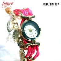 FIN-167 A Jam tangan fashion wanita analog - rope strap - 4 pilihan