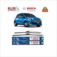Stok Baru Bosch Sepasang Wiper Mobil Honda Brio Satya Frameless New Cl