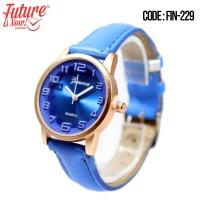 FIN-229 Jam tangan fashion wanita analog - leather strap - 8 pilihan
