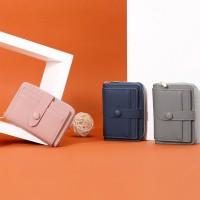 perempuan Wanita dompet kecil PU kulit dompet koin multi-fungsi