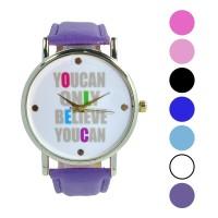 Jam tangan fashion wanita analog - leather strap - 7 pilihan warna -