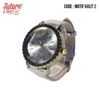 Jam tangan fashion wanita analog - leather strap - 3 pilihan warna -