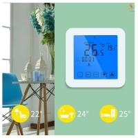 Gas E & T Thermostat Digital Layar Sentuh 7 Hari Programmable untuk