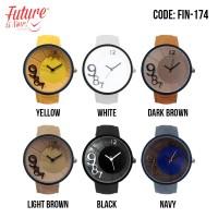 FIN-174 Jam tangan fashion wanita analog - leather strap - 6 pilihan