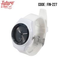 FIN-227 Jam tangan fashion wanita analog - rubber strap - 2 pilihan