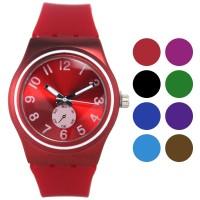 FIN-285 Jam tangan fashion wanita analog - rubber strap - 8 pilihan