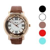 Jam tangan fashion wanita analog - leather strap - 5 pilihan warna -