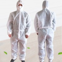 Ready Stock Unisex Disposable Non Woven Hood Isolation Gown