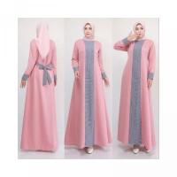 Baju Gamis Jumbo Maia Dress LD 120 cm XXL Big Size Syari Baju Muslim M
