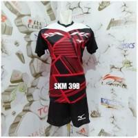 Big Sale Setelan Baju Kaos Celana Bola Voli Badminton Mizuno Printing