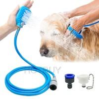 Pet Shower Bathing Tool Hewan Anjing Kucing Mandi Sikat Grooming klik